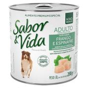 Sabor e Vida Lata Patê de Frango e Espinafre Cães Adultos 280g
