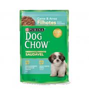 Sachê Dog Chow Filhotes Raças Pequenas Carne e Arroz 100g