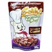 Sachê Gatitus Receitas do Chef Carne Adulto 85g