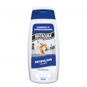 Shampoo e Condicionador Matacura Antipulgas para Gatos 200ml