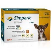 Simparic Antipulgas Cães 1,3 a 2,5kg 3 Comprimidos 5mg