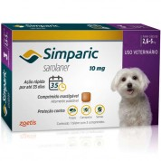 Simparic Antipulgas Cães 2,6 a 5kg 3 Comprimidos 10mg