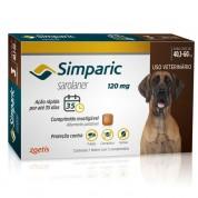 Simparic Antipulgas Cães 40,1 a 60kg 3 Comprimidos 120mg
