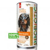 Sticks para Cães Dermato Spin Pet Probiotic Sabor Castanha e Linhaça 150g