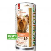 Sticks Cães Filhotes Spin Pet Probiotic Sabor Leite e Beterraba 150g