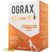 Suplemento Alimentar Ograx Derme 10 Gatos e Cachorros 30 Cápsulas