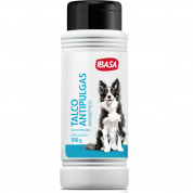 Talco Perfumado Ibapet para Cães e Gatos Ibasa 100g