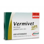Vermivet Iver Vermífugo Cachorros 10kg 660mg 4 comprimidos Biovet