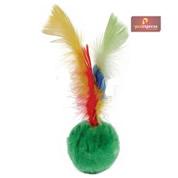 Brinquedo Bola de Pelúcia com Penas