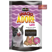 Snack Adore Gatos Anti Odor Recheado 80g