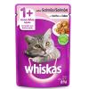Alimento Úmido Whiskas Sachê Gatos Adultos Salmão ao Molho 85g