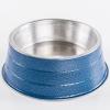 Comedouro Pesado Alumínio Azul Pequeno 600ml