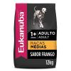 Ração Eukanuba Cães Adultos Raças Médias 12kg 2