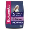 Ração Eukanuba Cães Sênior Raças Pequenas 3kg