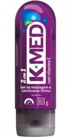 Imagem - Gel Lubrificante K-MED 2 em 1 Massageador e Lubrificante cód: 7896523210582