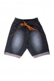 Imagem - Bermuda Bebê Menino Moletinho Jeans Escuro