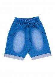 Imagem - Bermuda Infantil Menino Moletinho Jeans