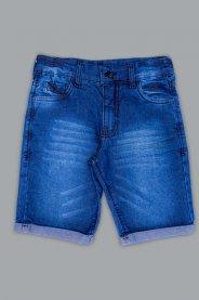Imagem - Bermuda Jeans Infantil Barra Dobrada