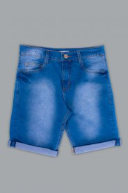 Imagem - Bermuda Jeans Juvenil Masculina Barra Dobrada
