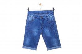 Imagem - Bermuda Juvenil Menino Jeans Barra Dobrada