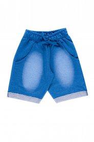 Imagem - Bermuda Juvenil Menino Moletinho Jeans