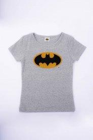 Imagem - Blusa Cotton Infantil Menina Estampa Batman