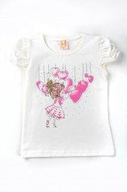 Imagem - Blusa Cotton Infantil Menina Estampada Com Glitter