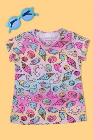 Imagem - Blusa Cotton Infantitl Menina Color