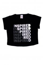 Imagem - Blusa Cropped Juvenil Menina Estampa Inspired