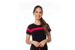 Imagem - Blusa Feminina em Viscolycra  com Recorte Pink, Cor Preta
