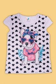 Imagem - Blusa Infantil Menina Estampada Dog