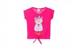 Imagem - Blusa Infantil Menina Pink Com amarração