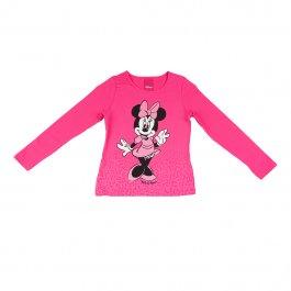 Imagem - Blusa Infantil Menina Pink Estampa Personagem Minnie