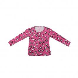Imagem - Blusa Infantil Menina Pink Estampa Rotativa Pinguim