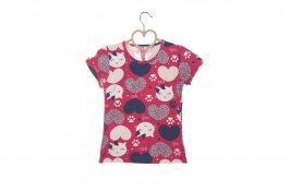 Imagem - Blusa Infantil Menina Pink Estampa Rotativo Gatinhos