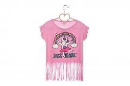 Imagem - Blusa Infantil Menina Rosa Com Franjas