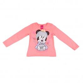 Imagem - Blusa Infantil Menina Rosa Estampa Minnie