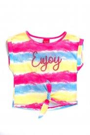Imagem - Blusa Infantil Menina Tie Dye Com Amarração
