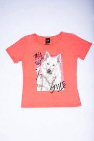 Imagem - Blusa Juvenil Menina Estampada Dog Style