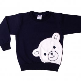 Imagem - Blusão Bebê Menino em Moleton Bordado Urso