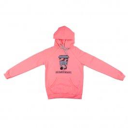 Imagem - Blusão Moletom Juvenil Menina Rosa Neon