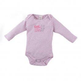 Imagem - Body Bebê Menina Listrado Rosa
