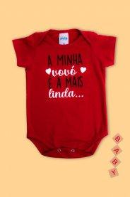 Imagem - Body Cotton Bebê Estampado Frase Vovó