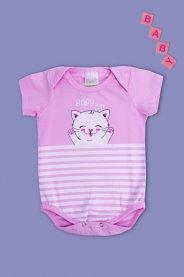 Imagem - Body Cotton Bebê Menina Estampado Baby Cat