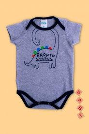 Imagem - Body Cotton Bebê Menino Estampado Dino