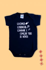 Imagem - Body Cotton Bebê Menino Estampado Frases