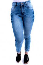 Imagem - Calça Feminina Jeans Cropped Barra Dobrada