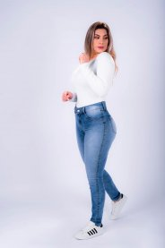 Imagem - Calça Jeans Feminina Cigarrete Clara