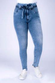 Imagem - Calça Jeans Feminina Clochard com Cinto