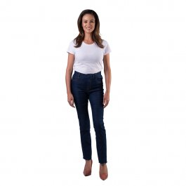 Imagem - Calça Jeans Feminina Reta com Cinto